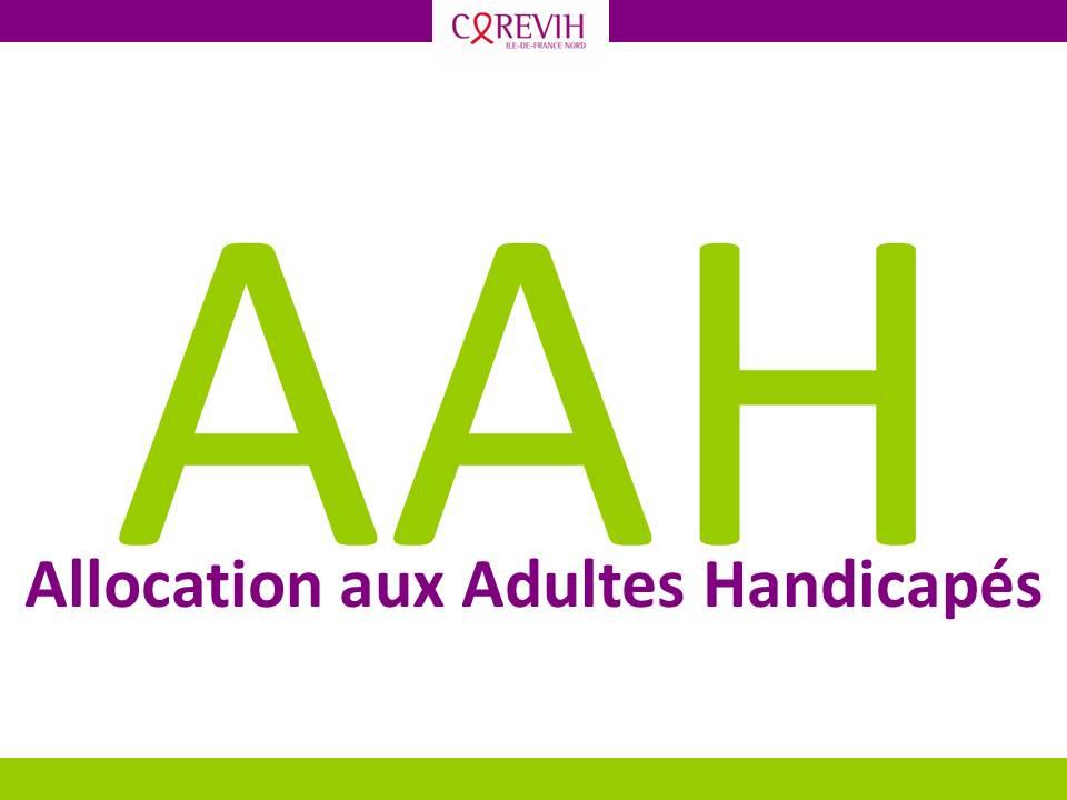 Aah Allocation Aux Adultes Handicapes Corevih Idf Nord