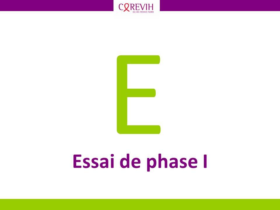 Essai clinique phase I