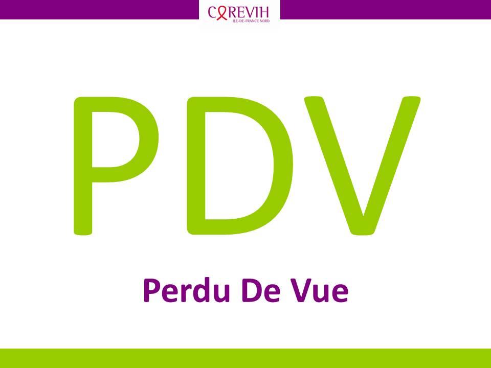 PDV - Perdu de vue