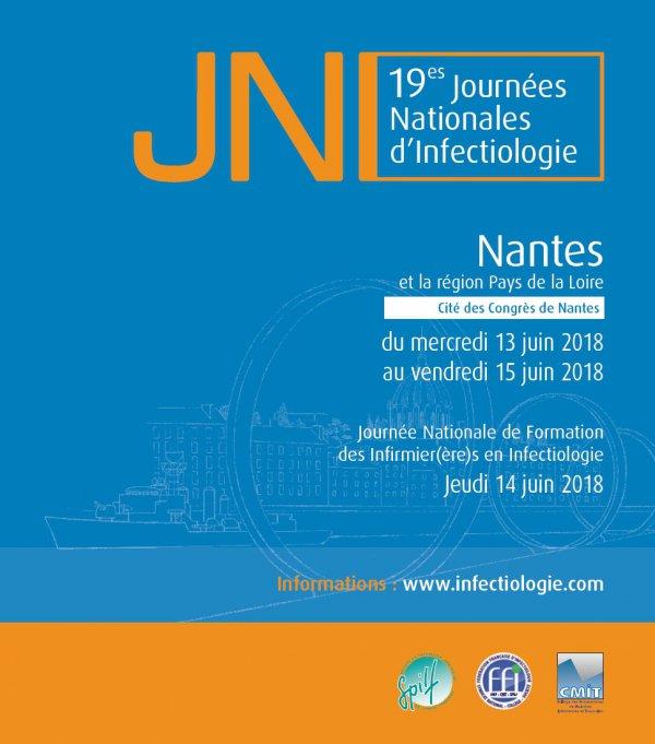 19ème Journées Nationales d'Infectiologie (JNI) - 13 au 15 juin 2018 - Nantes