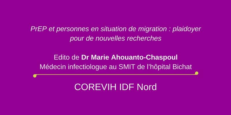PrEP et personnes en situation de migration : plaidoyer pour de nouvelles recherches