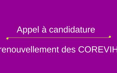 Appel à candidature du renouvellement des Corevihs franciliens : Prolongation de la date limite de candidature au 15 Novembre