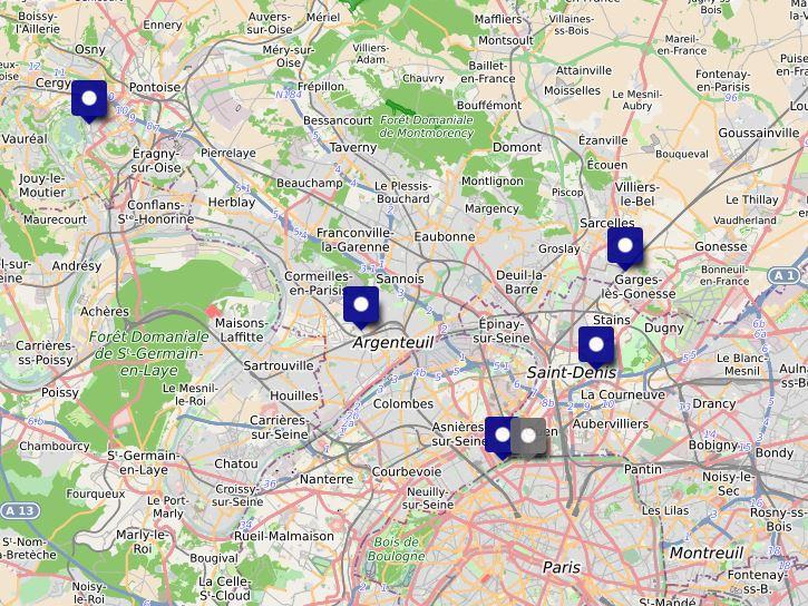 Carte interactive des CeGIDD du territoire