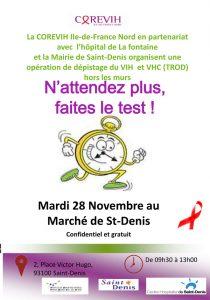 Dépistage hors les murs : le 28 Novembre 2017 @ Marché de Saint-Denis | Saint-Denis | Île-de-France | France