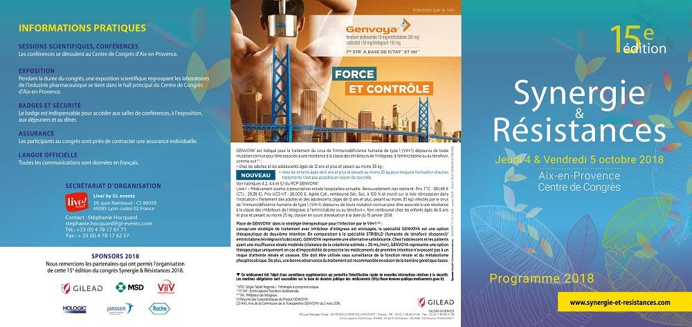 15ème édition du Congrès Synergie & Résistances - 4 & 5 octobre 2018 - Aix-en-Provence @ Aix-en-Provence | Provence-Alpes-Côte d'Azur | France
