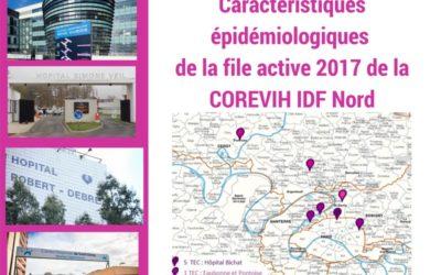 Caractéristiques épidémiologiques de la file active 2017 de la COREVIH IDF Nord