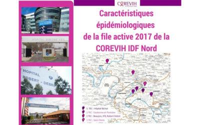 Caractéristiques épidémiologiques de la file active 2017 du COREVIH IDF Nord