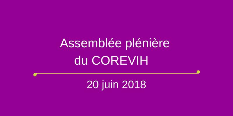La plénière du COREVIH du 20 juin 2018