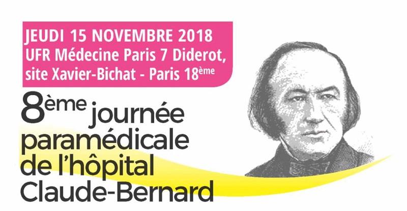 8ème Journée paramédicale de l'hôpital Claude Bernard -15 Novembre 2018 @ 'UFR de Médecine Paris 7 Diderot - site Xavier Bichat | Paris-18E-Arrondissement | Île-de-France | France