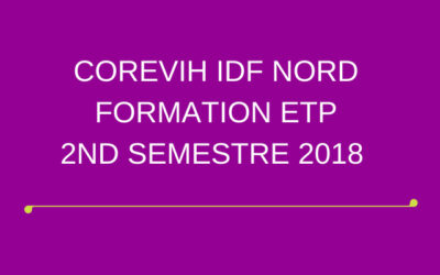 FORMATION ETP – 2ND SEMESTRE 2018