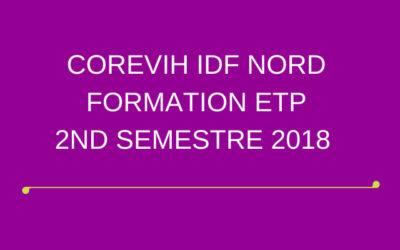 FORMATION ETP – 2ND SEMESTRE 2018
