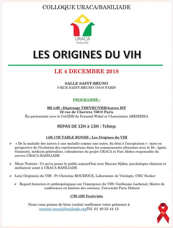 colloque URACA Les origines du VIH