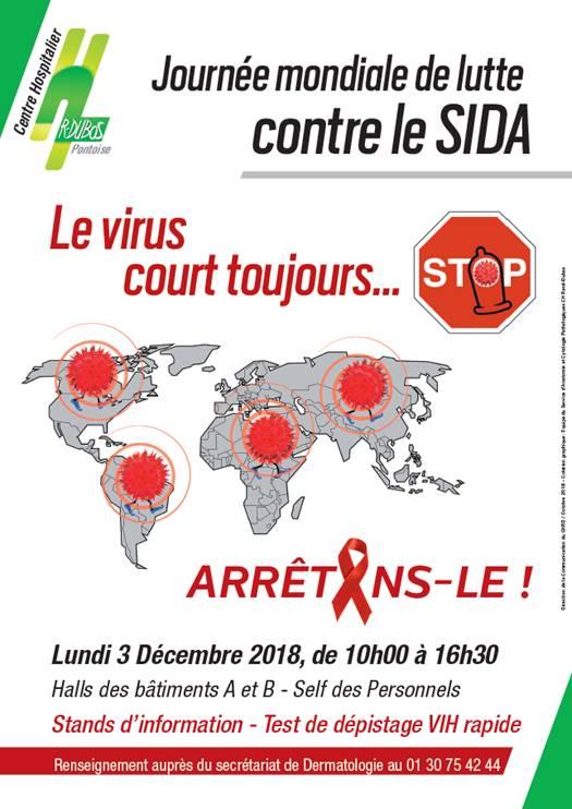 Journée mondiale de lutte contre le VIH / sida, au Centre hospitalier René Dubos à Pontoise