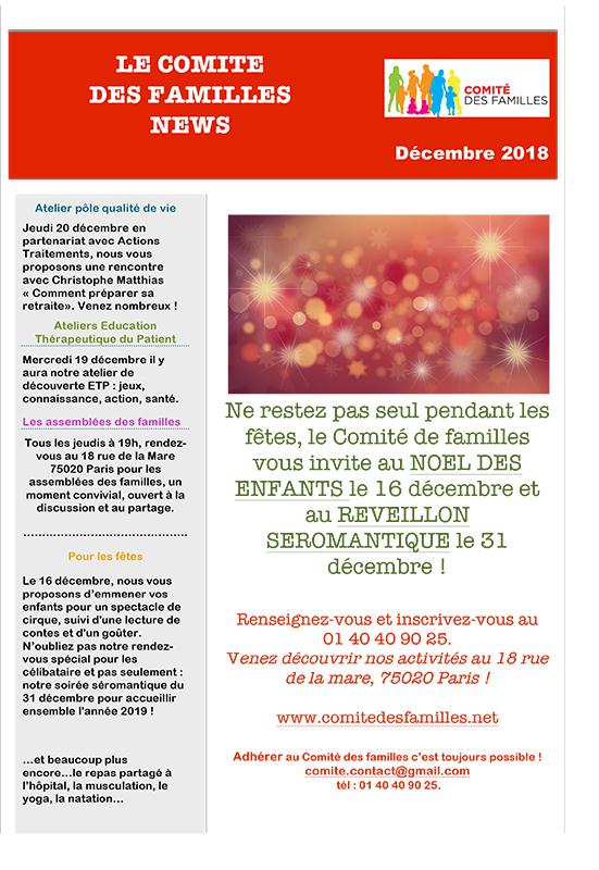 Le Comité des Familles décembre 2018