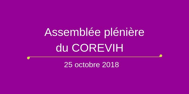 Assemblée plénière du COREVIH du 25 octobre 2018