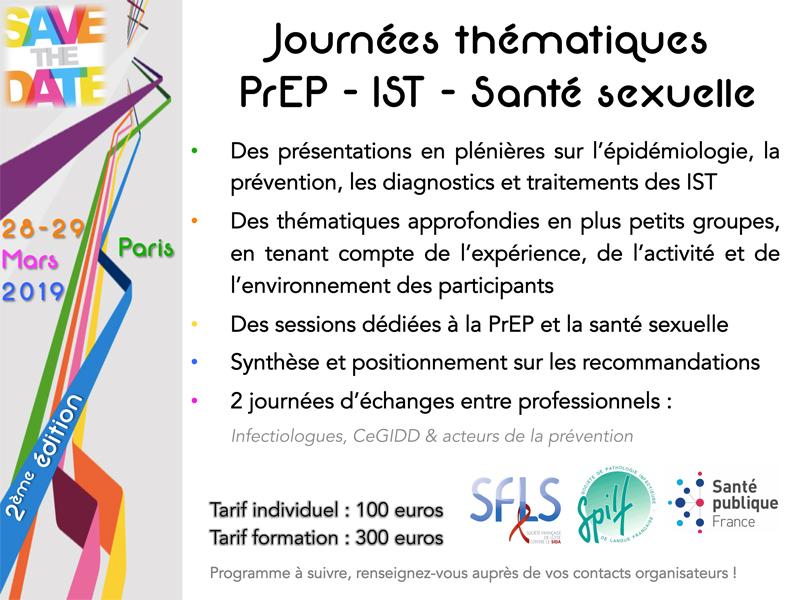 journées PrEP - IST - SANTE SEXUELLE - 28 et 29 mars 2019 @ Paris | Paris | Île-de-France | France