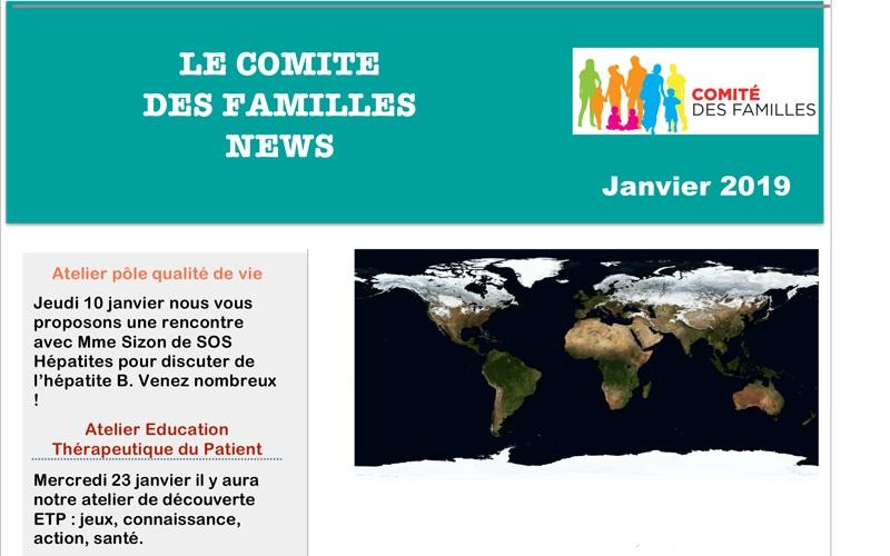 Les activités du Comité des Familles en janvier 2019