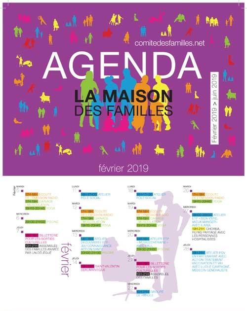 Agenda Comité des Familles - premier semestre 2019