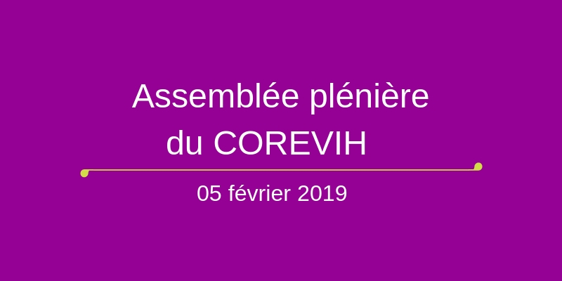 Assemblée plénière du COREVIH du 5 février 2019