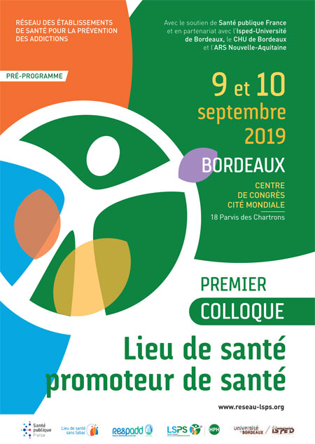 Colloque Lieu de santé promoteur de santé - 9 & 10 septembre 2019 - Bordeaux @ Bordeaux | Bordeaux | Nouvelle-Aquitaine | France