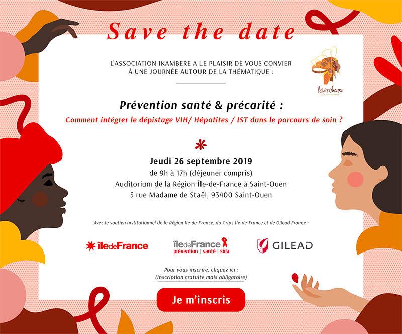 IKAMBERE - Colloque Prévention Santé & Précarité - 26 septembre 2019 @ Auditorium de la Région Île-de-France à Saint-Ouen | Saint-Ouen | Île-de-France | France
