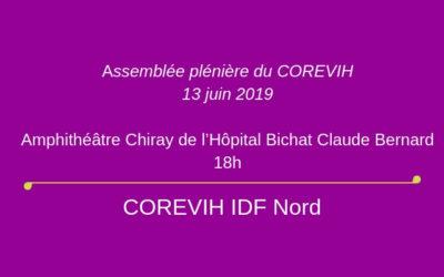 Assemblée plénière du COREVIH du 13 juin 2019