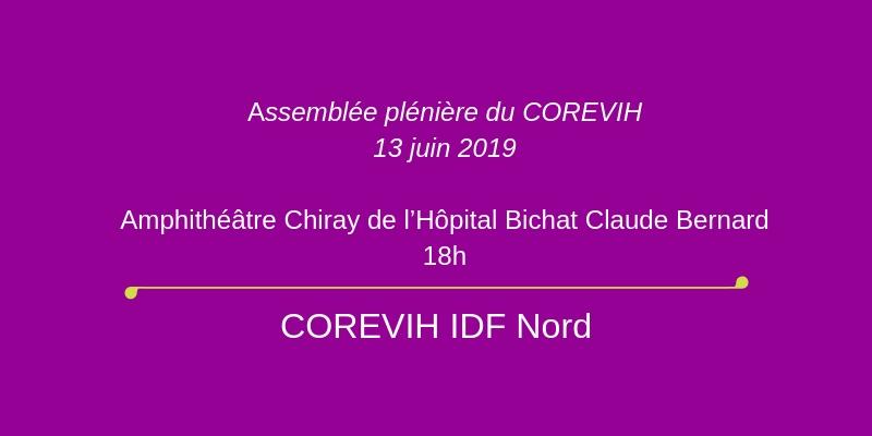 Assemblée PLENIERE du COREVIH IDF NORD – 13 juin 2019