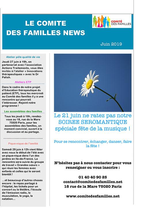 Activités du Comité des Familles en juin 2019