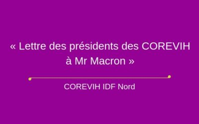 « Lettre des présidents des COREVIH à Mr Macron »