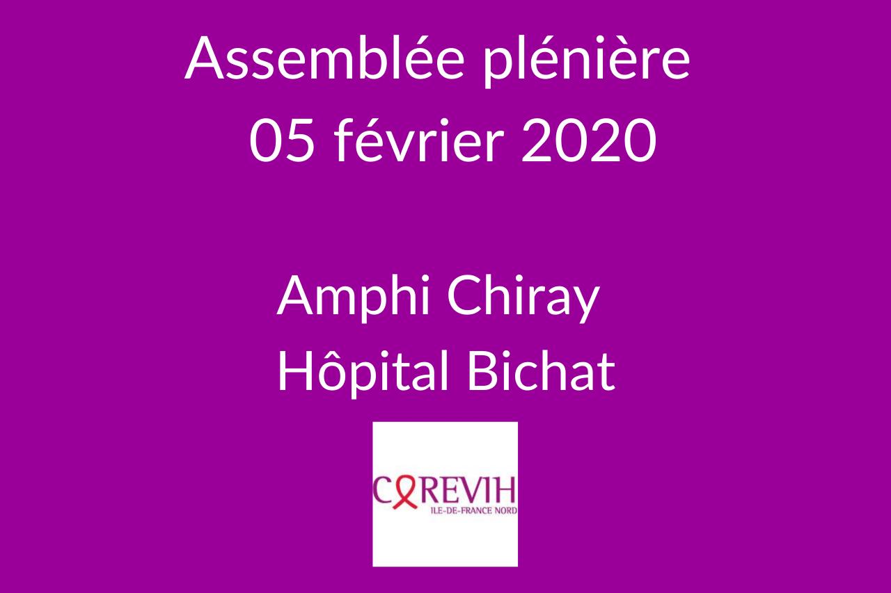 Assemblée plénière du COREVIH du 5 février 2020