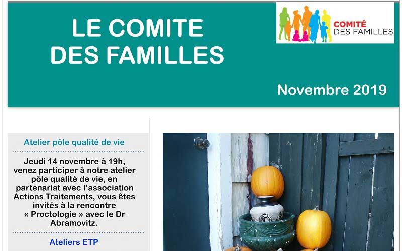 Les activités du Comité des Familles – Novembre 2019