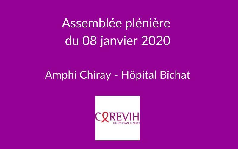 Assemblée plénière du COREVIH du 8 janvier 2020 @ Amphi CHIRAY de l'hôpital Bichat Claude Bernard | Paris | Île-de-France | France
