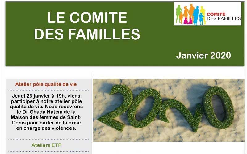 Les activités du Comité des Familles – Janvier 2020