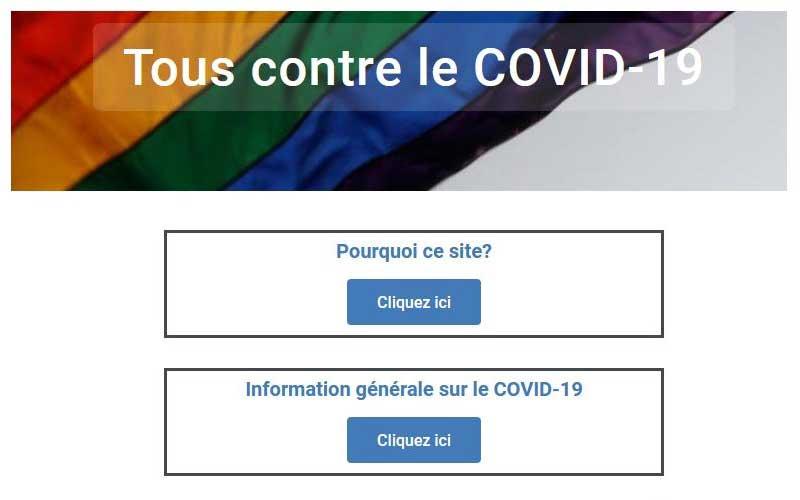 Le site Tous contre le COVID-19
