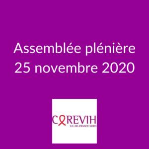 Assemblée plénière du COREVIH du 25 novembre 2020