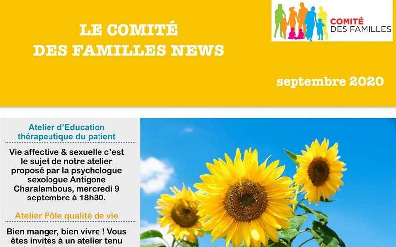 Les activités du Comité des Familles – septembre 2020