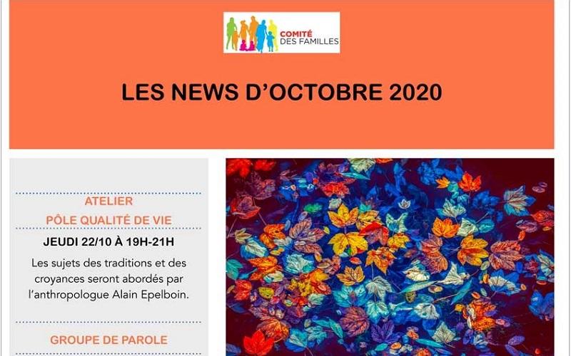 Les activités du Comité des Familles – octobre 2020