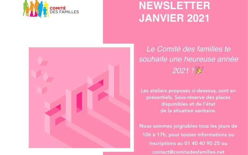 Les activités du Comité des Familles – janvier 2021