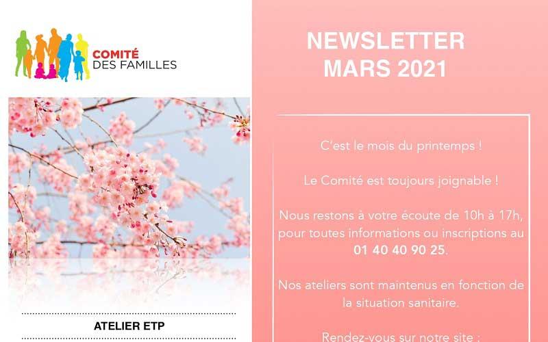 Les activités du Comité des Familles – mars 2021