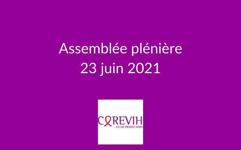 Assemblée plénière du COREVIH du 23 juin 2021