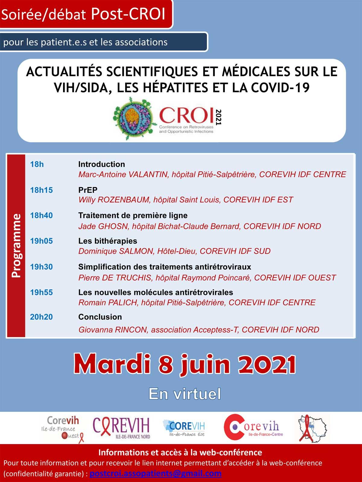Soirée / débat post CROI - 08 juin 2021