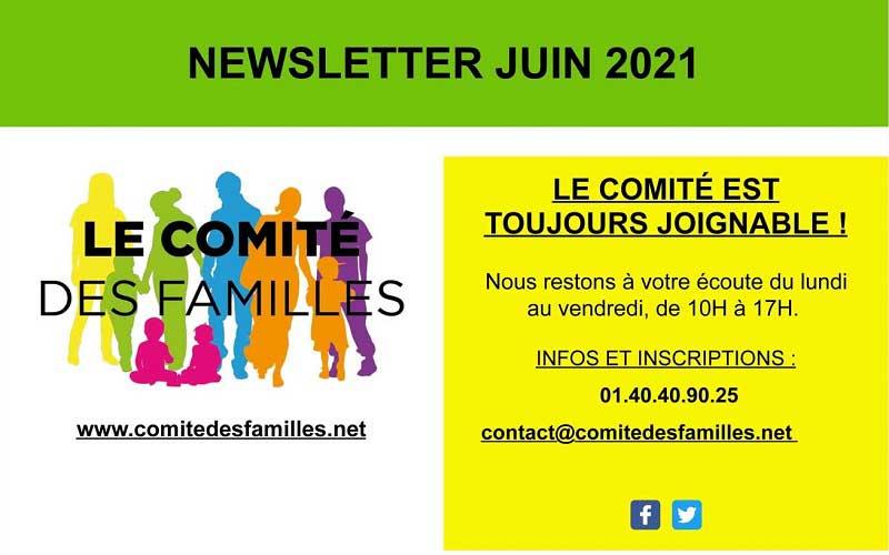 Les activités du Comité des Familles – juin 2021