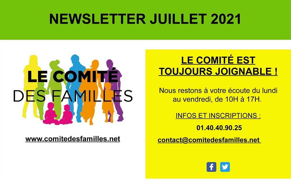 Les activités du Comité des Familles – juillet 2021