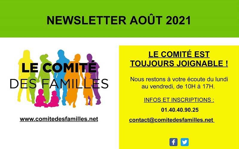 Les activités du Comité des Familles – août 2021