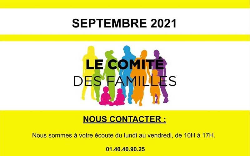 Les activités du Comité des Familles – septembre 2021
